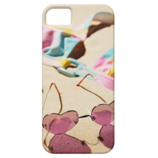 Bikini Top And Heart Shape Sunglasses On Beach iPhone SE/5/5s Case