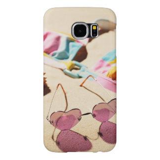 Bikini Top And Heart Shape Sunglasses On Beach Samsung Galaxy S6 Case
