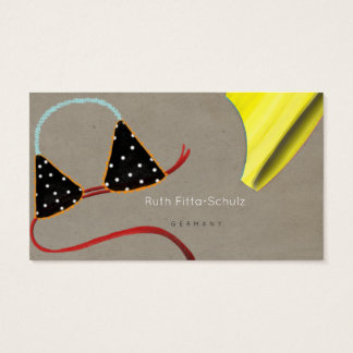 Bikini Top Summer Business Cards