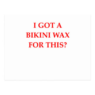 bikini wax postcard
