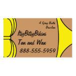 Bikini Yellow Business Card Template