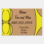 Bikini Yellow Lawn Signs