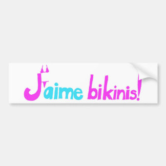 ¡Bikinis de J'aime! Pegatina Para Auto