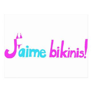 ¡Bikinis de J'aime! Tarjetas Postales
