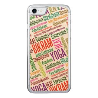 Bikram Yoga Word Cloud - Hot Yoga Carved iPhone 7 Case