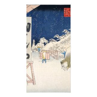 Bikuni Bridge in Snow Card
