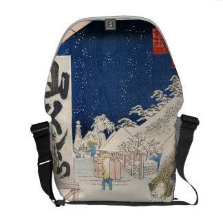 Bikuni Bridge in Snow Messenger Bag