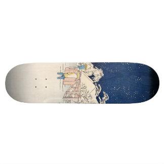 Bikuni Bridge in Snow Skateboard