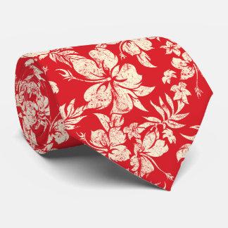 Bilateral floral hawaiano de Pareau del hibisco Corbata Personalizada