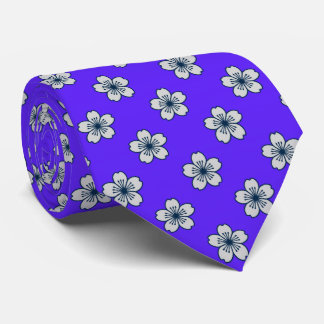Bilateral floral hawaiano del hibisco moderno corbata personalizada