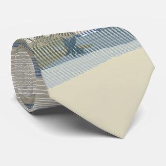 Bilateral grande de la isla hawaiana de la puesta corbata personalizada