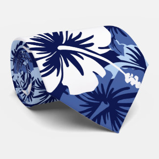 Bilateral hawaiano del hibisco floral épico corbata