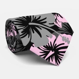 Bilateral hawaiano del hibisco floral épico corbata personalizada