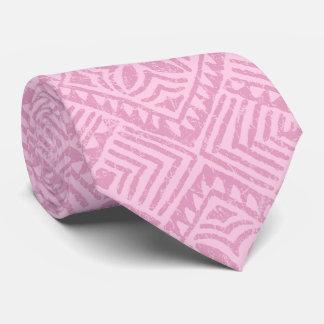 Bilateral rosado tropical del Tapa samoano impreso Corbata