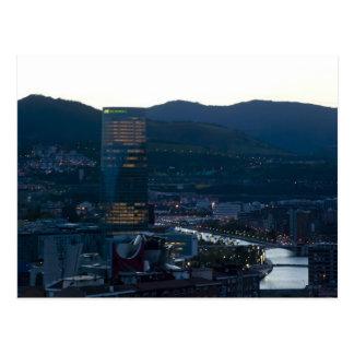 Bilbao al atardecer tarjetas postales