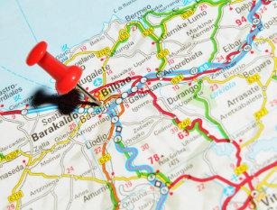 Map Of Spain Eibar.Spain Map Postcards Zazzle