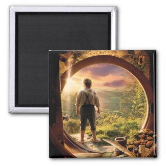 Bilbo Back in Shire Collage Fridge Magnets