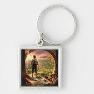 BILBO BAGGINS™ Back in Shire Collage Silver-Colored Square Keychain