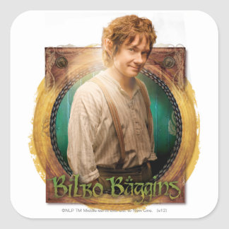 BILBO BAGGINS™ Character with Name Square Sticker