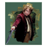 BILBO BAGGINS™ con la espada Póster