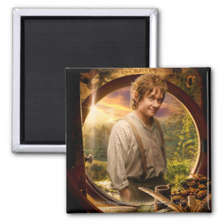 BILBO BAGGINS™ in Shire Collage Fridge Magnet