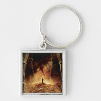 BILBO BAGGINS™ in the Eye of SMAUG™ Silver-Colored Square Keychain