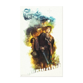 BILBO BAGGINS™ & The Company of Dwarves Graphic Canvas Print