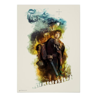 BILBO BAGGINS™ & The Company of Dwarves Graphic Poster