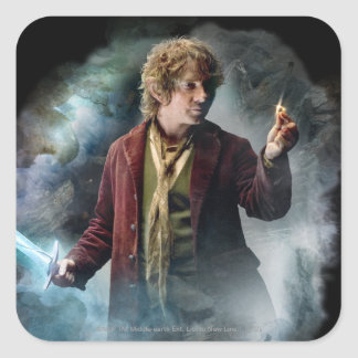 BILBO BAGGINS™ With The Ring Square Stickers