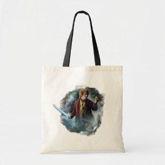 Bilbo con el anillo bolsa lienzo