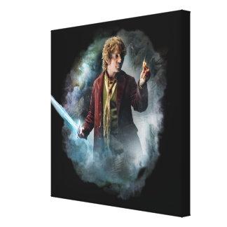 Bilbo con el anillo lienzo envuelto para galerías