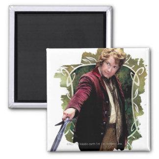 Bilbo con la espada imán para frigorífico