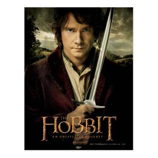 Bilbo con la espada tarjeta postal