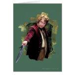 Bilbo con la espada tarjetas