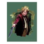 Bilbo con la espada tarjetas postales