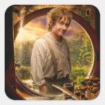 Bilbo en collage del condado colcomanias cuadradases