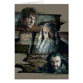 Bilbo, Gandalf, and Thorin Cards