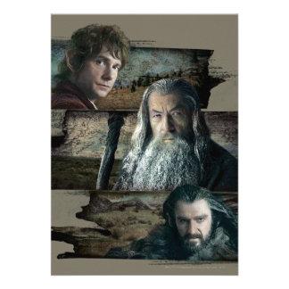 Bilbo, Gandalf, and Thorin Card