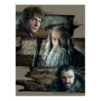 Bilbo, Gandalf, and Thorin Post Cards