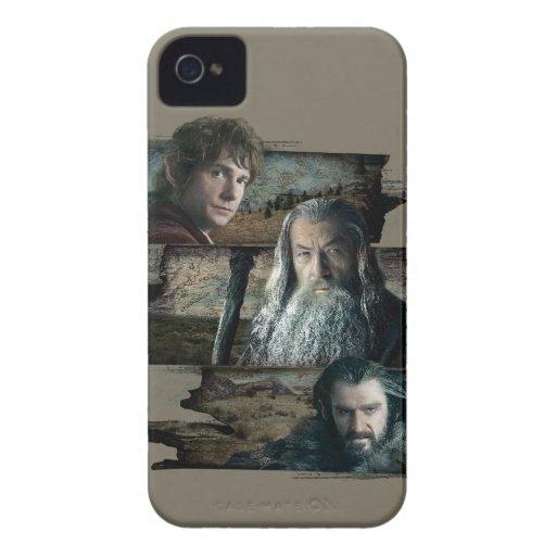 Bilbo, Gandalf, y Thorin iPhone 4 Case-Mate Protectores