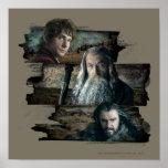 Bilbo, Gandalf, y Thorin Impresiones