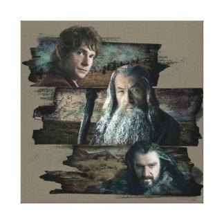 Bilbo, Gandalf, y Thorin Impresión En Lienzo Estirada