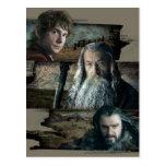 Bilbo, Gandalf, y Thorin Postales