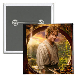 Bilbo in Shire Collage Pinback Buttons