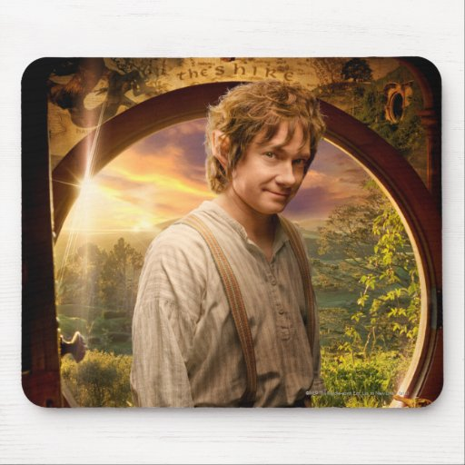 Bilbo in Shire Collage Mouse Pads