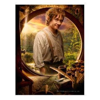 Bilbo in Shire Collage Postcard