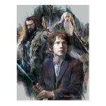 Bilbo, Thorin, and Gandalf Postcards