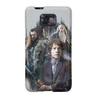 Bilbo Thorin y Gandalf Galaxy S2 Carcasa