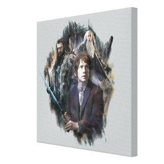 Bilbo, Thorin, y Gandalf Lienzo Envuelto Para Galerías
