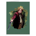 Bilbo With Sword Greeting Card